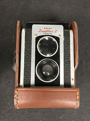 Vintage Kodak Duaflex II 2 Film Camera with Leather Case