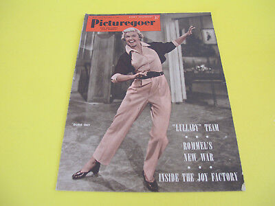 Doris Day on Front Cover 1951 Picturegoer Magazine Film and Entertainment Weekly