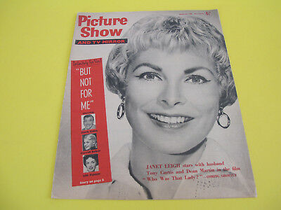 Janet Leigh on Front Cover 1960 Picture Show Magazine and TV Mirror