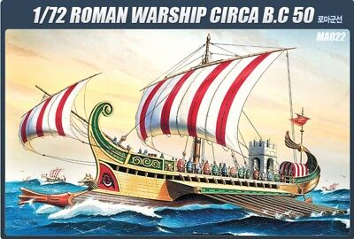 Academy 1/72 B.C. 50 Roman Warship NEW #14207 With Free Shipping + Free Gifts