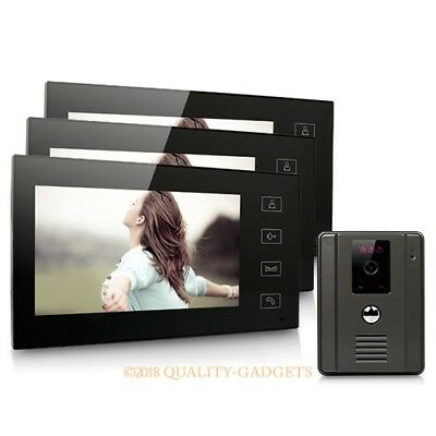 """7"""" Color LCD Touch Key Wired Video Door Phone Doorbell Intercom System IR Camera"""