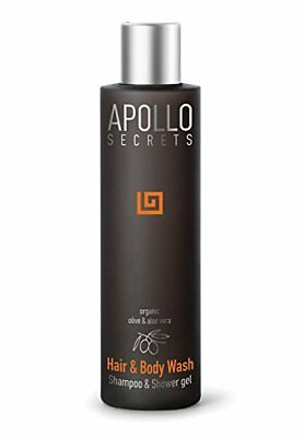 Apollo Secrets Hair  Body Wash 250ml for Men - Shampoo  Shower Gel with Olive