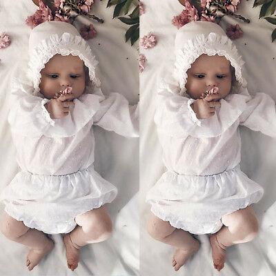 USA Newborn Baby Girl Long Summer Spring Cotton Romper Bodysuit Outfit Clothes