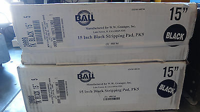 New Sealed 15 Inch Black Stripping Pad PK5