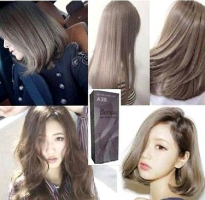 BERINA NO.A38 PERMANENT Color Hair Dye Cream Light Ash Blonde Color Home Man