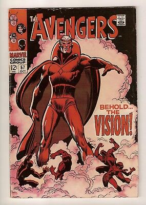 AVENGERS (1963 Series) 57 KEY 1st Vision KEY Silver Age Classic Cover