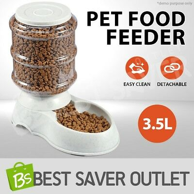 New Automatic 3.5L Pet Dog Cat Eating Food Feeder Bowl Bottle Dispenser Plastic