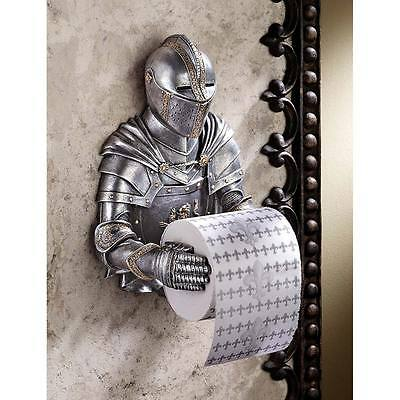 Decorative Toilet Paper Holder Gothic Knight Wall Sculpture
