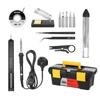 Meterk 14 in 1 Soldering Iron Kit 60W Adjustable Temperature Welding Iron Tool