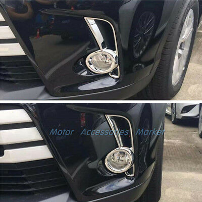 New Chrome Front Fog Light Cover Trim For Toyota Highlander 2017 2018