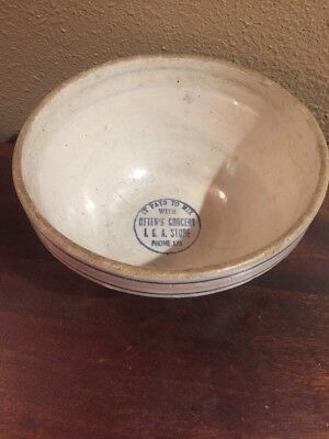 "Vintage Otten's Grocery 8"" Advertising Red Wing Stoneware Bowl Barton, Wisconsin"