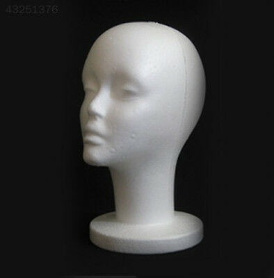 Female Styrofoam Foam Manikin Head Mannequins Model hair Glasses Hat head mould