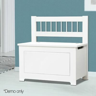 Storage Cabinet Box Toy Kids Organiser Wooden White Children Chest Clothes Bench