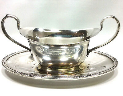 International Silver Co Camille 6013 Gravy Sauce Boat Silverplate Serving Bowl