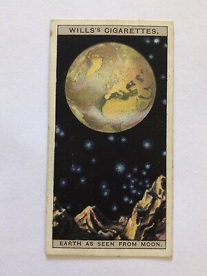 Romance Of The Heavens Wills Cigarette Card 9 The Earth Of As Seen From The Moon