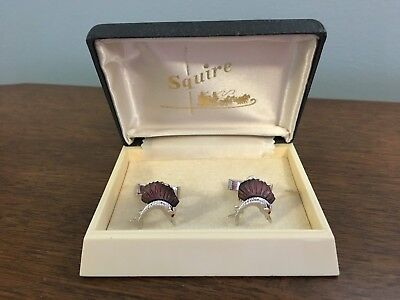 Vintage Squire Cuff Links Fish - Very Nice Quality