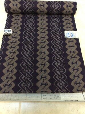 Navy And Taupe Japanese Yakata/kimono 100% Cotton Or For Quilting