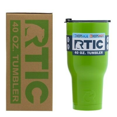 (1180ml, Lime) - RTIC Double Wall Vacuum Insulated Tumbler, 1180ml, Lime