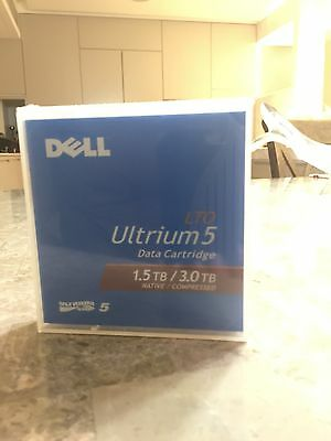 New Dell LTO-5 Ultrium 1.5TB / 3TB PowerVault Tape Cartridge LTO5 Backup Tape