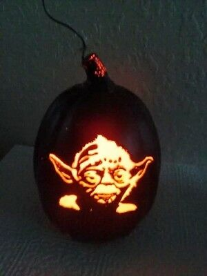 Star Wars Yoda Black Jack-O-Lantern Light Up Pumpkin Electric