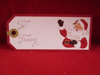 12 Printed Father Christmas Gift Tag Die Cuts.....cardmaking....christmas
