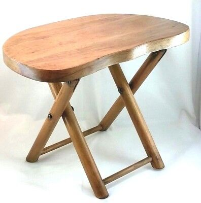 Vintage Nevco Fold n Carry Stool 1950s Handmade portable seat