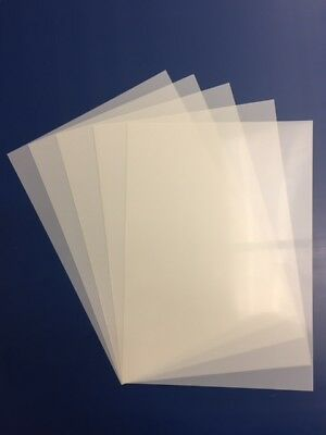 Pack Of 5 Genuine Blank  A3 Mylar Stencil Sheets
