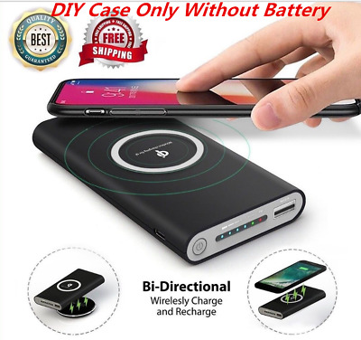 500000mAh Power Bank 3 in 1 Qi Wireless Fast Charging USB LED Battery Charger