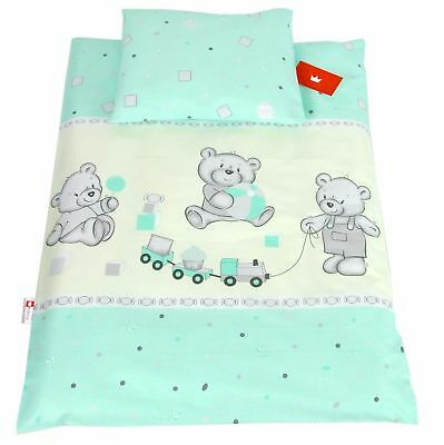 Baby Bedding Set Pillowcase & Duvet Cover / 2Pc  / Crib / Cot / Cot Bed