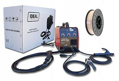 SET IDEAL PRAKTIK 200A inverter welder MIG MAG ARC MMA GAS & GASLESS + Wire 5kg