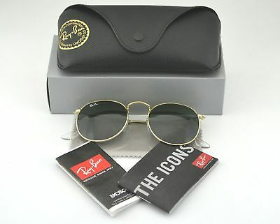Ray-Ban Sonnenbrillen RB3447 Round Metal Gold Frame/ Green Classic