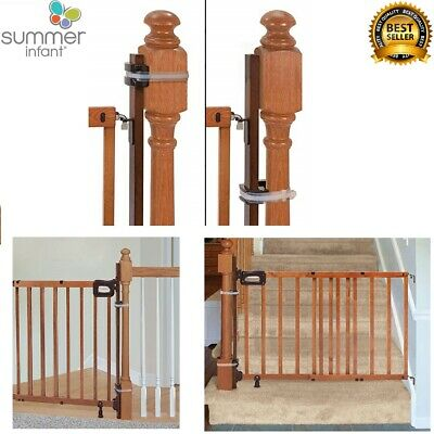Banister to Banister Universal Stairway Baby Gate Mounting Kit 37 inch wood