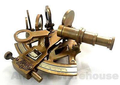 Vintage Nautical Antique Solid Brass GERMANY Sextant Maritime Marine Decorative