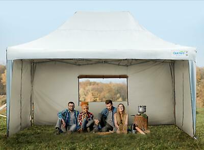 Upgraded Quictent 10x15 EZ Pop Up Canopy Party Tent with Sidewalls 9.2ft H White