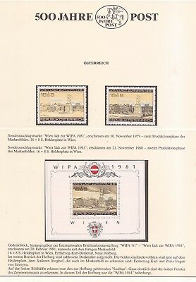 Osterreich ( Austria ) - All Mnh  -  Wipa 1981 - Mnh Stamps + Sheet