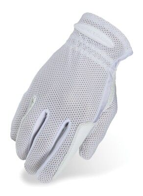 (10, White) - Heritage Pro-Flow Summer Show Glove. Heritage Products