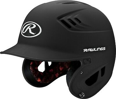 (Junior, Black) - Rawlings R16 Series Matte Batting Helmet. Shipping is Free