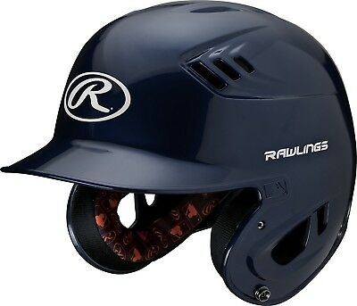 (Senior, Navy) - Rawlings R16 Series Metalllic Baseball Batting Helmet