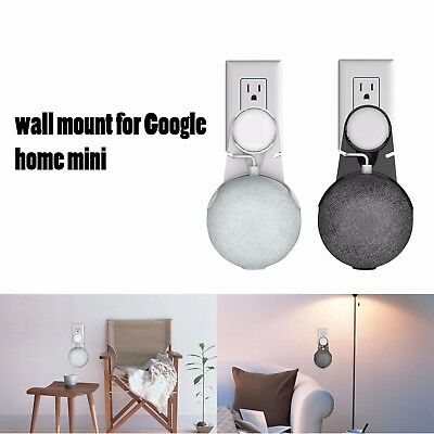 Bedroom Outlet Wall Mount Holder Hanger Stand Grip for Google Home Mini US plug