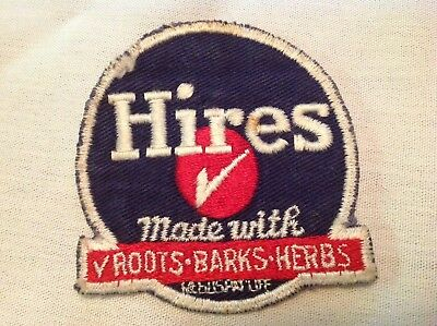 Hires Root Beer 1950's Cloth Uniform Patch, RARE