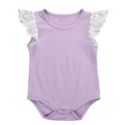 born Toddler Girl Baby Kids Romper Laces Bodysuit Infant Clothes Outfit , P X6S6