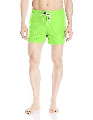 Costume Sundek Verde Fluo Green Mare Uomo Man M502BDTA100 - BS/RB - LOW RISE 14""