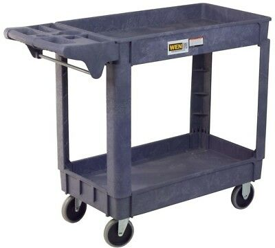 Wen Service Cart 5 in. 500 lbs. Weight Capacity 2-Shelf Non-Marring Casters