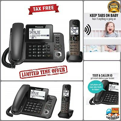 Panasonic Dect 1-Handset Landline Telephone Cordless Phones w Answering Machine