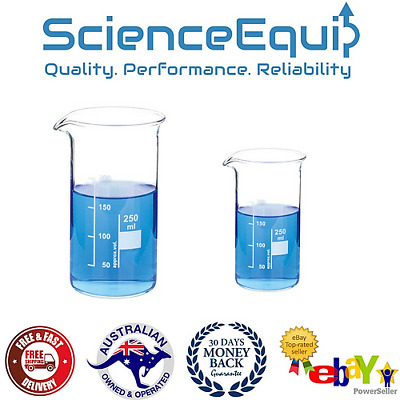 1000Ml, 1/3/5 Pcs, Borosilicate Glass Tall Form Beakers Autoclavable, Graduated