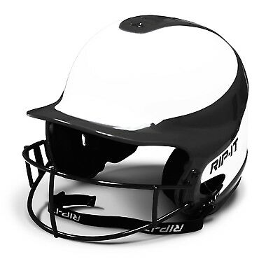(Medium/Large, Black) - RIP-IT Vision Pro Softball Helmet ft. Blackout