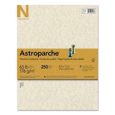 Neenah Paper Astroparche Specialty Card Stock, 65lb, 8 1/2 x 11, Natural,...