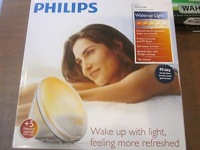 Philips Wake-Up Light Alarm Clock with Colored Sunrise Simulation and
