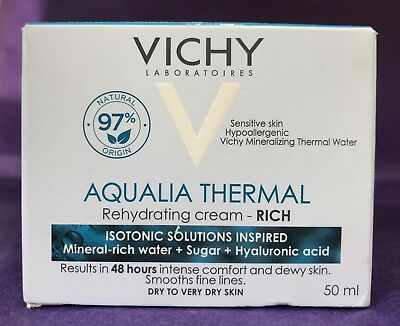 Vichy Aqualia Thermal Rehydrating Cream Rich For Dry to Very Dry Skin 50ml 01/21