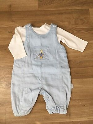 BNWT BABY BOYS OVERALLS AND LONG SLEEVE TEE  SIZE 000 Max And Tilly Gift